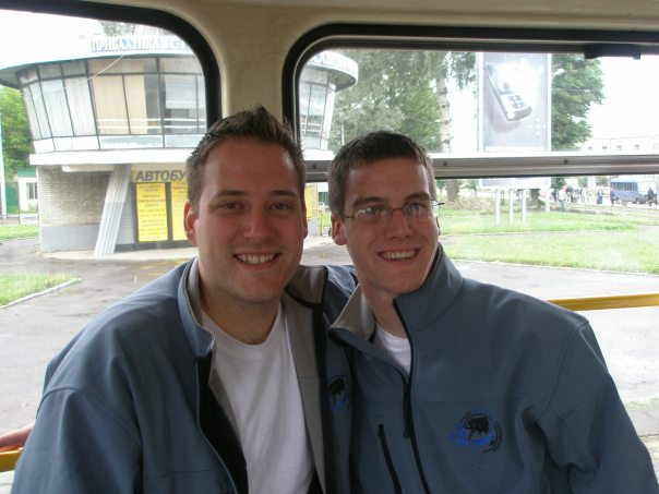 Brian and Me on our way to Ukraine